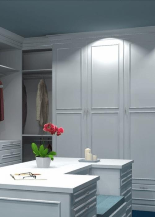 armoires de cuisines sur mesures - plan 3d