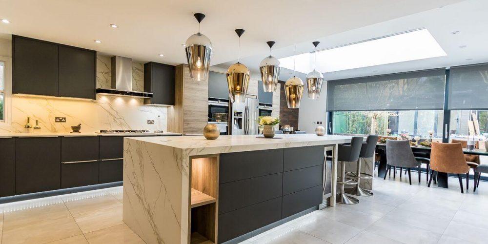 armoires de cuisines modernes sur mesures